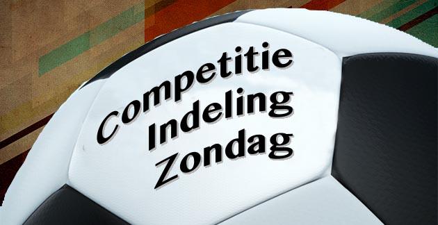 Indeling zondagvoetbal A-categorie 2021/2022