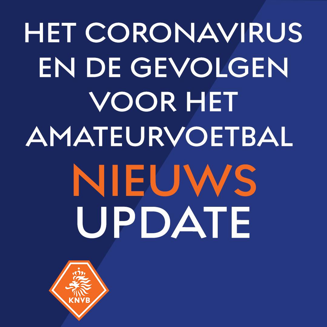 Update KNVB omtrent vragen rondom Corona