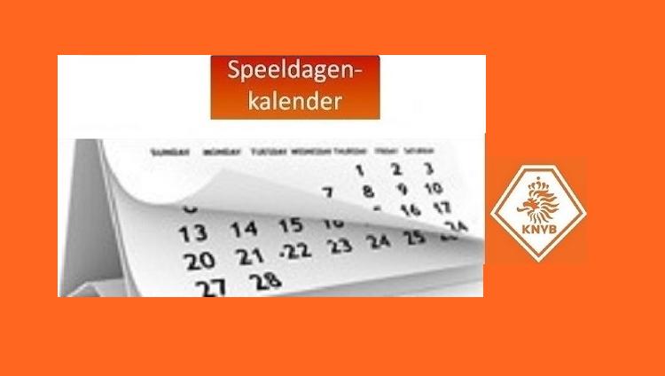 Speeldagenkalender KNVB seizoen 2021-2022