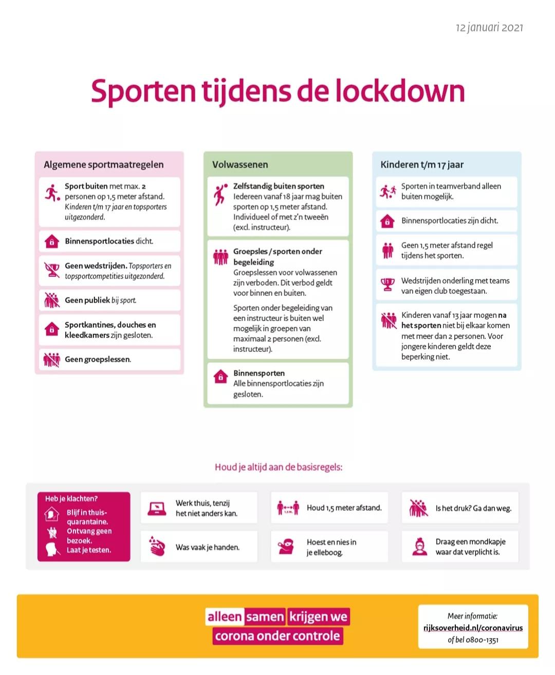 Sporten tijdens de lockdown